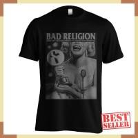 Kaos Band Bad Religion C18 Warna Hitam Ukuran S M L XL XXL Bahan