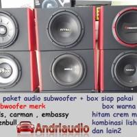 Paket Audio Mobil Subwoofer Plus Box Speaker
