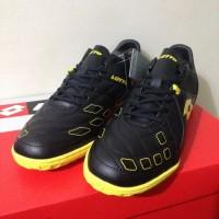 Sepatu Futsal Lotto Squadra IN Black Sunshine Original