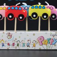 LILIN / CANDLE motif dekorasi CAR MOBil ulang tahun anak kids dewasa