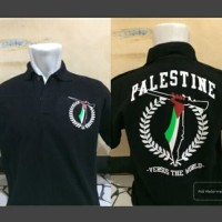 Polo Shirt Palestina Versus The World / Baju Polo Kaos Kerah Palestin