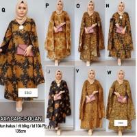 Gamis Etnik model Cape wanita motif Batik Murah Ukuran Allsize fit XL