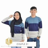 Baju Rajut Couple Korea Murah (Kugy Couple Navy) Grosir