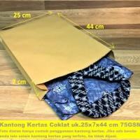 Paperbag Flat Kantong Kertas Coklat 25x7x44 Baju Lukisan Souvenir