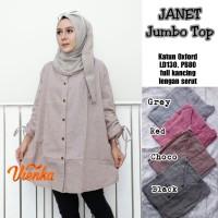 Baju Atasan Wanita Muslim Blouse Janet Jombo Top