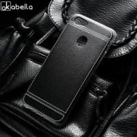 Casing Oppo F7 F5 A83 Leather Silicone Case Black Hitam