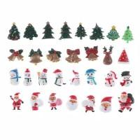 10Pcs Miniatur Santa Claus/Pohon Natal pajangan Boneka Salju dekorasi