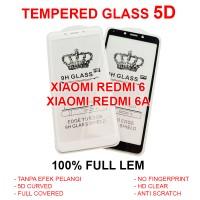 Xiaomi Redmi 6 - 6A anti gores screen guard full 4D TEMPERED GLASS 5D