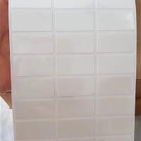 label nama waterproof / sticker anti air Polos Putih