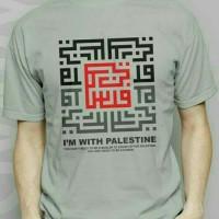 Kaos/Tshirt/Baju Oblong Im With Palestin