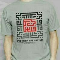 Kaos/Tshirt/Baju Oblong Im With Palestin BIG SIZE 3xl 4xl