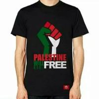 Kaos/Tshirt/Baju Oblong Palestin Will Be Free BIG SIZE 3xl 4xl