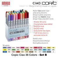 COPIC CIAO - 36 COLOR SET B - CCM/36B