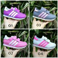 Sepatu Adidas Nike Anak/Kids Ungu Pink Silver Abu-abu Putih Murah