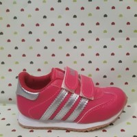 Sepatu Adidas Nike Anak/Kids Pink List Silver/Abu-abu Murah