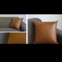 Bantal kulit - Bantal sofa sarung dari kulit oscar - bantal jok mobil