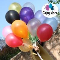 Balon Latex Metalik / Balon Karet Polos Perpack 12 Inc ( isi 100 ) - Putih