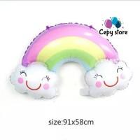 Balon Foil Awan Pelangi / Foil Karakter Rainbow /