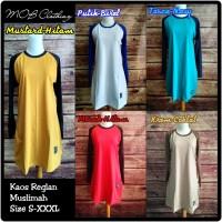 XXXL Baju Kaos Reglan Cewek Muslimah Tunik Panjang Big Size Jumbo