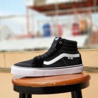 sepatu skate vans SK8 black white / sneakers boot oldskool hitam putih