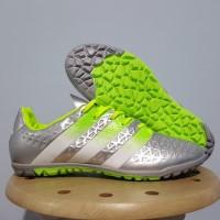 Sepatu Futsal Adidas Ace 2016 Silver TF / Gerigi Replika Impor