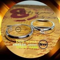 cincin emas putih dan paladium P653X