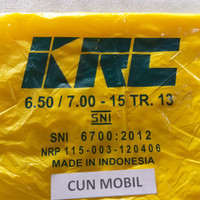 Ban dalam mobil ring 15 6.50/7.00-15 TR 13 pentil pendek KRC