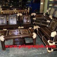 1 Set Kursi Sudut Bambu