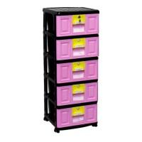 Lemari Laci Plastik Napolly Susun 5 STB-500 Stockcase Cabinet Drawer