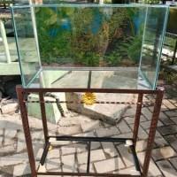 aquarium kaca 60×30×35cm, rak 60×30cm
