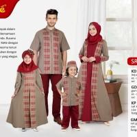 Busana Muslim Sarimbit Keke SR 17186 Warna Coklat Gamis Anak size No.7