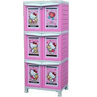 Rak Lemari Cabinet Plastik Napolly Hello Kitty Susun 3 Besar
