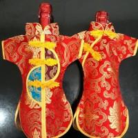 Baju botol minuman wine sepasang cowok cewek model cheongsam