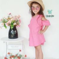 IZAKHU Baju Anak Perempuan Dress Sabrina - Atasan Anak