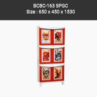 Lemari Plastik Napolly BCBC 163 SPGC pintu karakter Spyderman
