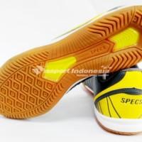 termurah Sepatu Futsal Specs Horus - Dark Charcoal/Yellow (100%
