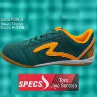 terlaris Sepatu Futsal SPECS HORUS IN tosca/orange