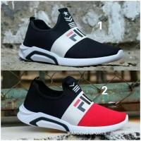 Sepatu Fila Slip On Men Fashion Slop Sport Man Cowok Cowo Running Pria