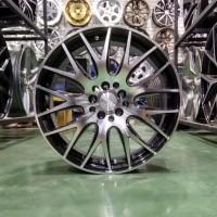 Velg Mobil Ring 17 HSR NIFTY Lubang Pcd 5x100/114,3 Black Polis