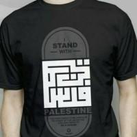 Kaos/tshirt/baju oblong I Stand Palestin BIG SIZE 3xl 4xl
