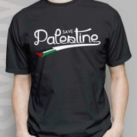 Kaos/tshirt/baju oblong Islami Save Palestina Palestin Palestine