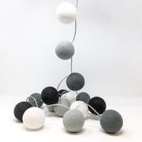 Monochrome Cotton Light Ball with Light / Lampu Hias / Lampu Tidur