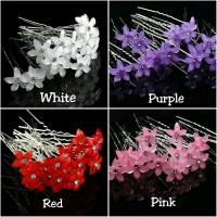 Hair pin wedding crystal flower hiasan rambut sanggul pesta pengantin