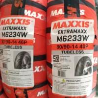 1 Paket Ban Tubeless Maxxis 80/90-14 dan 90/90-14 Termurah..
