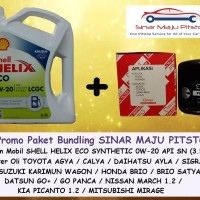 Paket Bundling SHELL HELIX ECO 0W-20 & FILTER OLI MOBIL TOYOTA CALYA