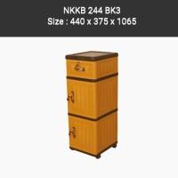 Lemari Plastik Napolly. 1 laci dan 2 pintu. NKKB 244 BK3