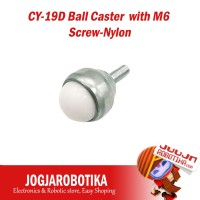 CY-19D Ball Caster with M6 Screw-Nylon