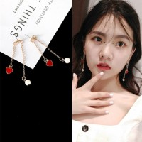 Anting Red Love Heart Shaped 7 Earring