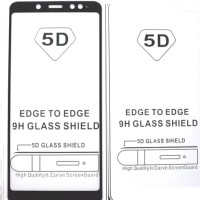 Tempered Glass 5D Samsung A8+ 2018 Full Lengkung Anti Gores