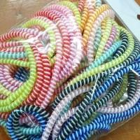 Tali spiral untuk pelindung kabel -Multi-Color / USB Cable Protector